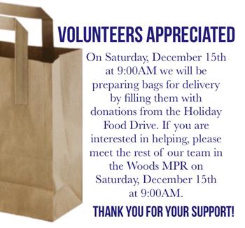 Paper Bag with Volunteer Information