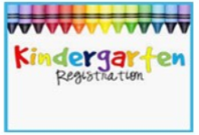 "Crayons bordering the top of photo and pointing to the words, ""Kindergarten Registration""."