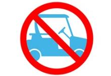 Photo of a no golf carts symbol
