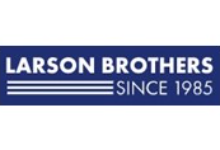 Larson Brothers Since 1985 text on blue background