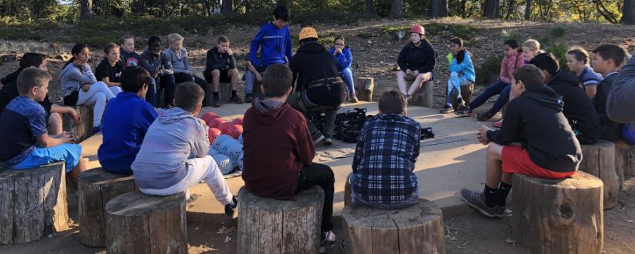 Students at Sierra Outdoor School