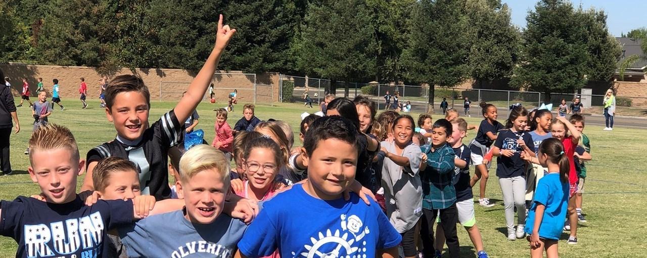 Students playing at recess.