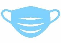 blue mask clip art